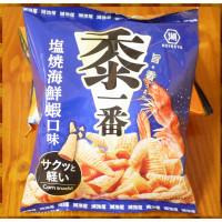 25元賣湖池屋黍一番塩燒海鮮蝦口味酥脆三角玉米酥(單包報價)