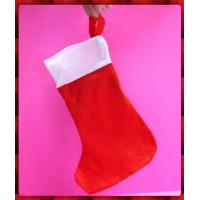 40公分經典聖誕襪子袋(裝禮物用)-單隻報價(厚)