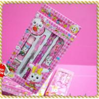 中型小白兔文具組禮盒(粉紅)