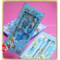小型天藍兔兔文具組
