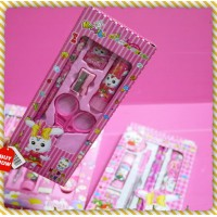 小型粉紅兔兔文具組