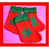 18公分精緻款聖誕襪子袋(裝禮物用)-單隻報價(厚)