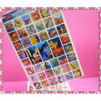 大張正版迪士尼主題郵票型燙金貼紙