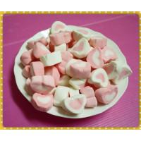 A級3公分粉紅愛心棉花糖(1000g裝)