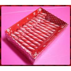 百貨公司上架款,全長式彩色拐杖糖一盒12隻裝