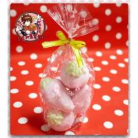 AA級義大利原裝進口寶格麗造型棉花糖4顆包(草莓造型)