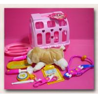 近真實狗狗飼養獸醫玩具組
