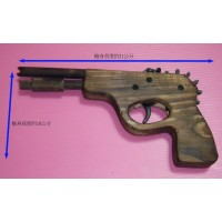 12連發制式手槍造型純木製橡皮筋手槍(超級改良版)