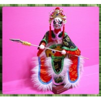 台灣民俗八家將布袋戲偶-柳爺又稱柳將軍