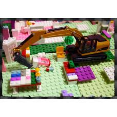 男人的收藏-超合金擬真工程車系列(打地型挖土機)