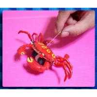 經典童玩再現-免電池的拉線牽龍跑-螃蟹先生