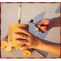 絕版童玩-嗡嗡叫手拉式陀螺(特大顆)