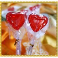 甜蜜的愛心棒棒糖蔓越莓口味台灣製(單隻報價)