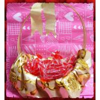 性感紅唇棒棒糖蔓越莓口味台灣製100隻裝含禮籃
