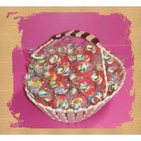 超可愛彩色奶嘴糖100顆裝加送歐式禮籃