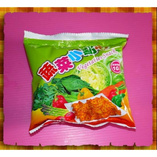 10元賣古早味蔬菜小點心(20包一箱裝)