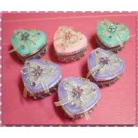 婚禮小物專用-愛心造型珠寶盒(彩繪玻璃材質)