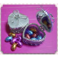 超大方的婚禮小物-愛心珠寶盒加金箔彩蛋巧克力