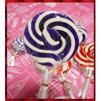 正宗純台灣製超大紫白漩渦棒棒糖(10公分直徑120g重量)單隻報價