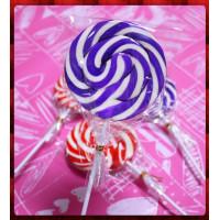 正宗純台灣製超大紫白漩渦棒棒糖(8公分直徑60g重量)單隻報價