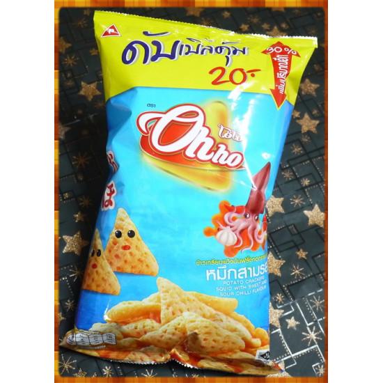 泰國原裝恐龍OHHO三角玉米片辣魷魚味