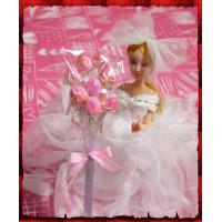 8隻一把裝粉紅彩晶花束棒棒糖含包裝-台灣製