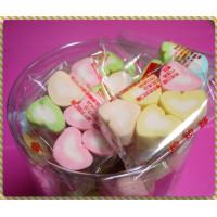 3公分長度彩色愛心棉花糖60包裝(3+1顆一包裝)