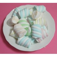 A級超級大彩色螺旋花卷圓柱棉花糖4公分(1000g裝)