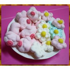 AA級義大利原裝進口寶格麗造型棉花糖900g包(粉紅小豬妹以及超大顆花朵合一包)