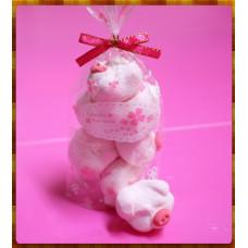 AA級義大利原裝進口寶格麗造型棉花糖6顆包(粉紅小豬妹)