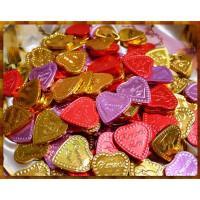 彩色金箔紙巧克力系列-正方愛心120片裝