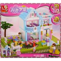 女生專屬-粉紅社區花園別墅墅積木(539片)