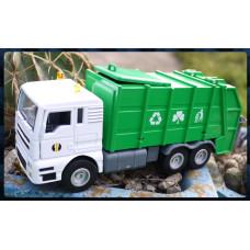 限量超大款超合金超大型壓縮式垃圾車模型