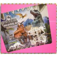 迷你立體恐龍骨骼積木組4隻裝