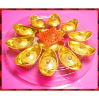 7公分特大金元寶盒子裝入金元寶巧克力12顆裝