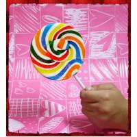 正宗純台灣製超大隻彩虹漩渦棒棒糖(10公分直徑120g重量)單隻報價