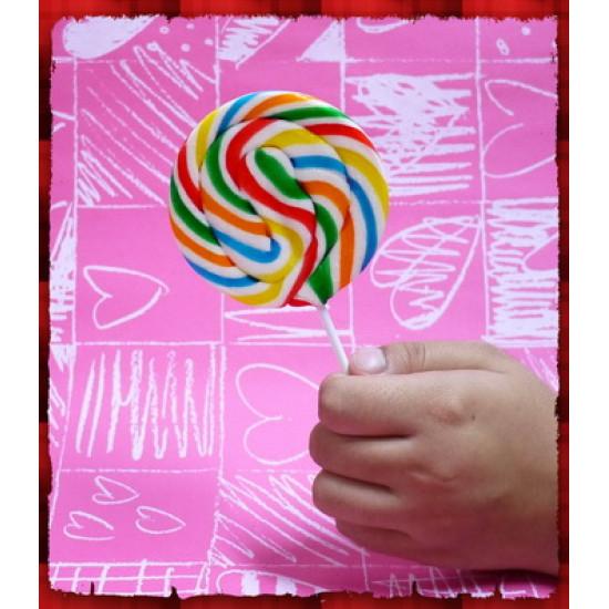 正宗純台灣製超大隻彩虹漩渦棒棒糖(8公分直徑60g重量)單隻報價