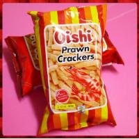 Oishi蝦條餅60g包原味-使用真蝦漿原料-粗壯的烤蝦條