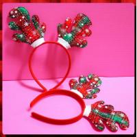 聖誕專用的鹿角形頭扣-大人小孩都可用喔耐用款-A主題