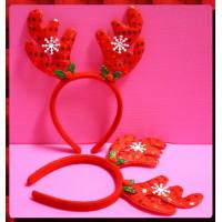 聖誕專用的鹿角形頭扣-大人小孩都可用喔耐用款-B主題