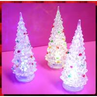 14公分高迷你多重閃光造型聖誕樹-內含電池