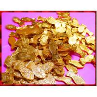 鯉魚飄金箔巧克力一公斤裝(約140隻)