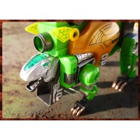 侏儸紀世界主題之最強恐龍變身機器人三合一玩法-劍龍
