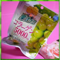 日本長野縣原裝進口-明治果汁QQ軟糖-白葡萄