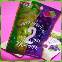 日本神奈川縣原裝進口-不二家兩種葡萄風味軟糖