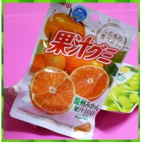 日本埼玉縣原裝進口-明治果汁QQ軟糖-溫州蜜柑