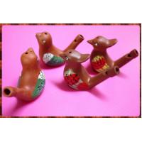 彩繪紫砂水笛又稱水鳥笛單隻報價-鳥類主題