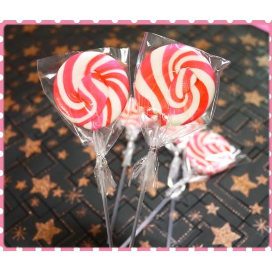 凱蒂公主粉白漩渦棒棒糖(視覺大三倍款)台灣製20g重-單隻報價