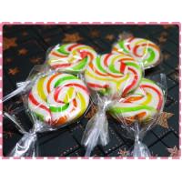 彩虹三倍視覺款魔法漩渦多色棒棒糖台灣製20g重-單隻報價