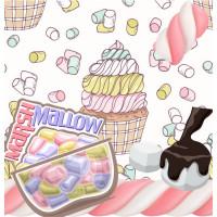 A級棉花糖A款(0.5公分雪白)與B款(0.5公分彩色)兩種樣式混裝1000g裝